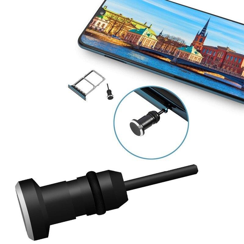 Тип C Пылезащитная заглушка для телефона Комплект USB портом Type-C и 3,5 мм разъем для наушников для Samsung Galaxy S8 S9 плюс для Huawei P10 P20 lite-3