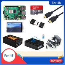 Originele Raspberry Pi 4 Model B 1/2/4Gb Ram   Case   Koellichaam   Power adapter   32 Gb Sd-kaart   Micro Hdmi Voor Rpi 4B