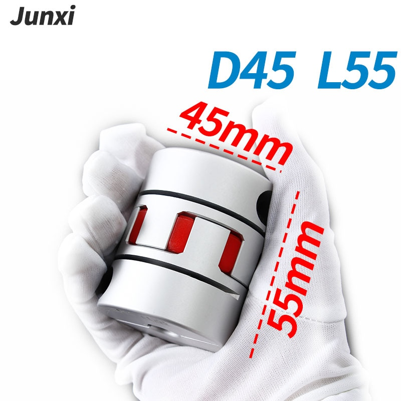 D45 L55 GS GR ثلاثة الفك مقرنة الألومنيوم عمود مرن البرقوق اقتران المحرك موصل نك مرنة مقرنة 10 12 14 15 16-25 مللي متر