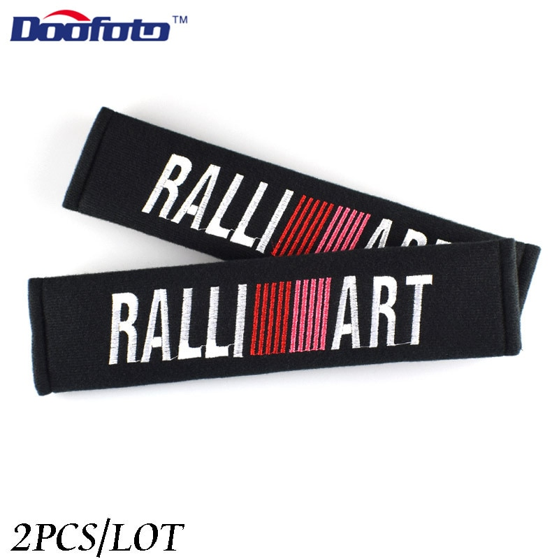 Funda de cinturón de seguridad Doofoto para Mitsubishi Ralliart Outlander 3 Asx Lancer l200 Pajero accesorios deportivos