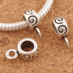 Swirl Connectors Bails Beads 12.4x4.5mm 300pcs zinc alloy Fit Charm European Bracelet L697