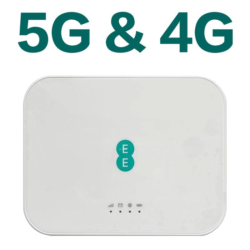 جهاز توجيه 5G مفتوح CPE مع فتحة للبطاقات Sim واي فاي هوت سبوت 4G LTE جهاز توجيه لاسلكي محمول 6460mAh للمنزل موبايل برودباند