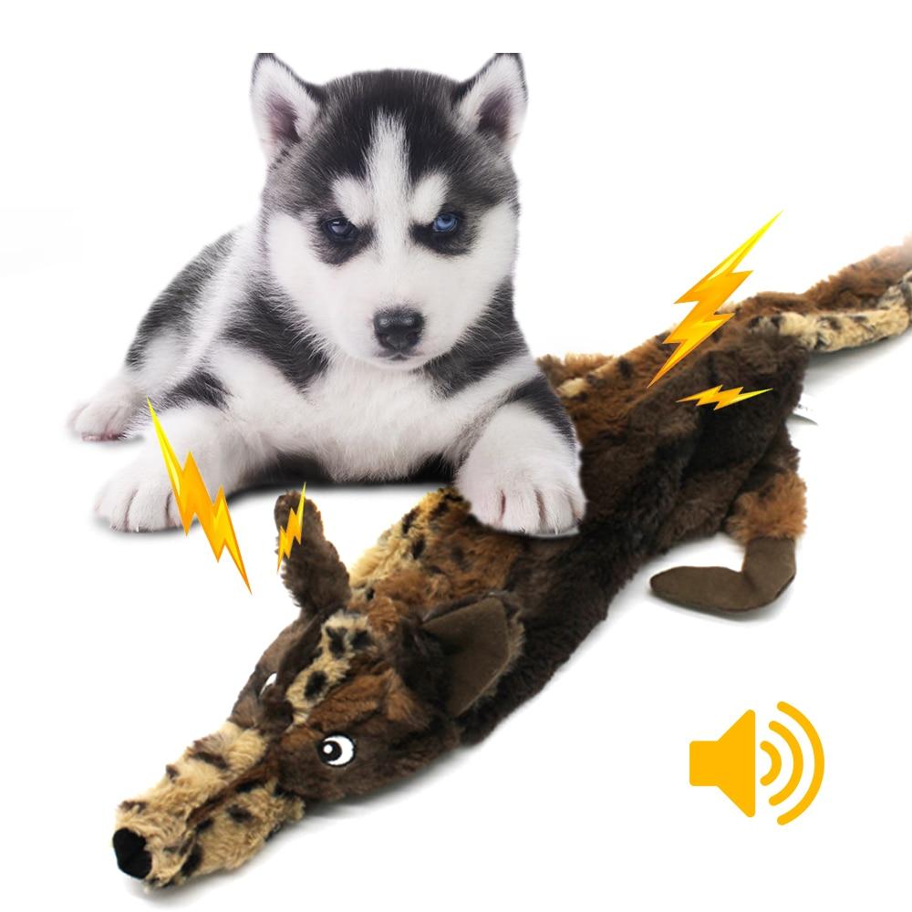 Perro para masticar con chirrido silbato chirrido mascota Lobo conejo Animal de peluche perro para masticar con chirrido silbato envuelto ardilla perro juguetes #2