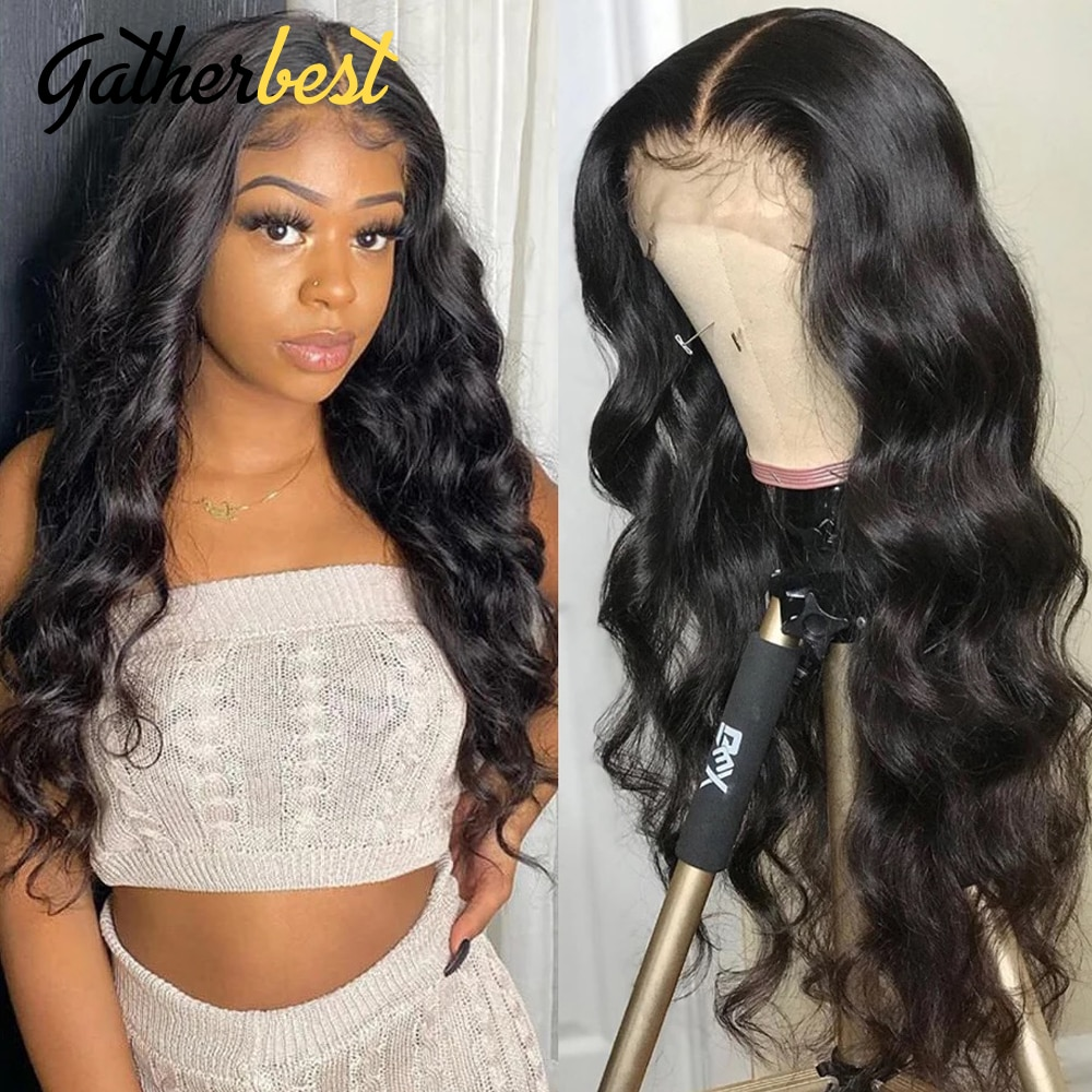 13x4 Body Wave Lace Wig Human Hair Wigs For Black Women 150% Brazilian Virgin Hair Pre Plucked With Baby Hair Natural Color
