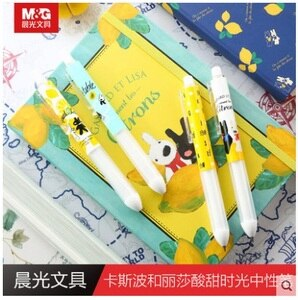 10 PCS/LOT M&G Chenguang stationery 0.5 black cute caspo and Lisa's Sweet and Sour Time unisex pen gel pen