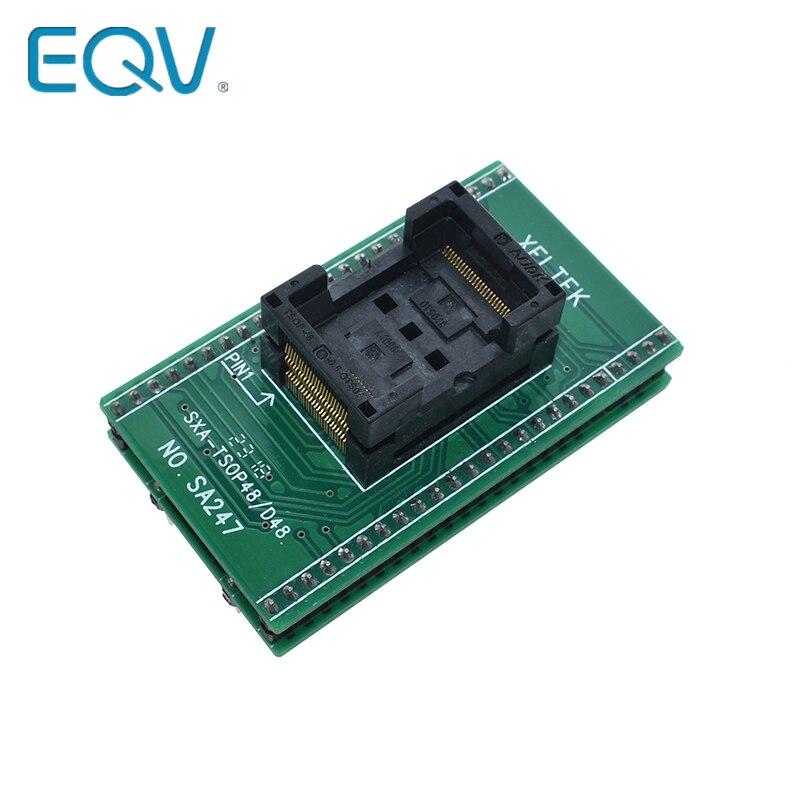 Высокое качество TSOP48 к DIP48 адаптер, TSOP48 тестовая розетка 0,5 мм шаг для RT809F RT809H и для Xeltek USB программатор