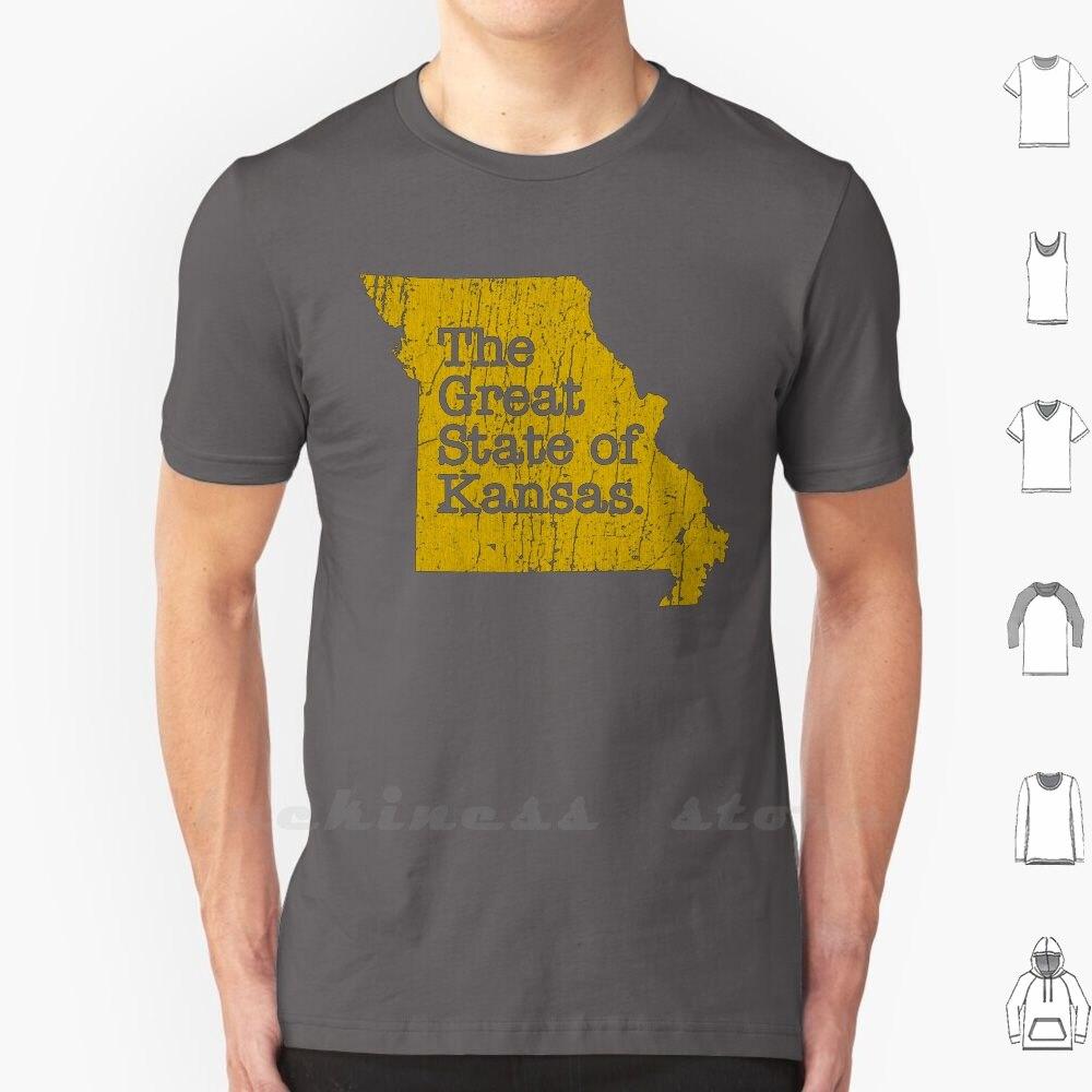 El gran estado de Kansas camiseta de gran tamaño Kansas City Missouri Kansas Chiefs Kingdom Deportes Fútbol Trump gracioso Meme