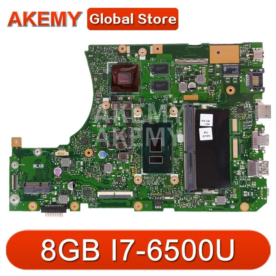 X556UQ 8G / I7-6500U (V2G) DDR4 لآسوس X556UV X556UJ X556UJ X556UF Mainboard اللوحة الأم 90NB0BH0-R00040