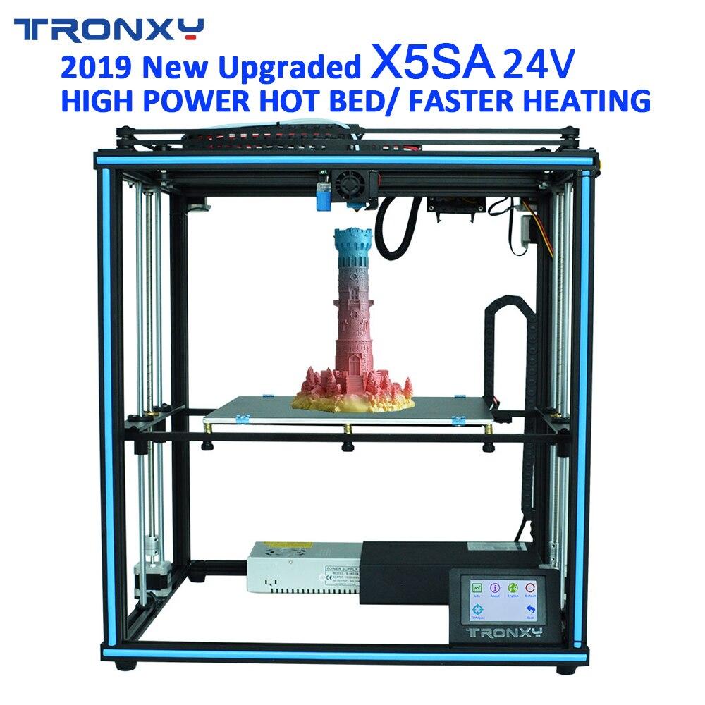 ¡Novedad de 2019! kit de impresora 3D de extrusión de aluminio X5SA con pantalla táctil y nivelación automática Tronxy DIY
