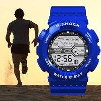 reloj hombre digital sport watch Waterproof Men's Boy LCD Digital Stopwatch Date Rubber Sport Wrist Watch digital watch