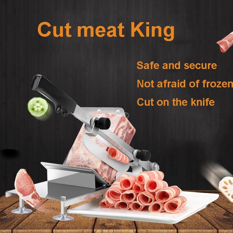 Máquina de rodajas para cortar carne de cordero, máquina de rodajas de acero inoxidable para el hogar