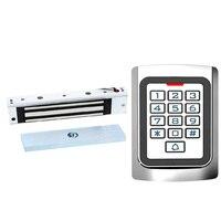 Gate opener door lock Outdoor Access Control Keypad EM reader RFID Wiegand 26 with 180KG magnetic lock