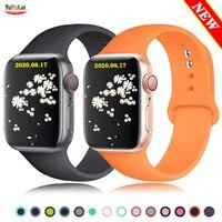 Ремешок силиконовый для часов iwatch 38/42 мм, браслет для смарт-часов 44 мм 40 мм, 6 5 4 3 SE