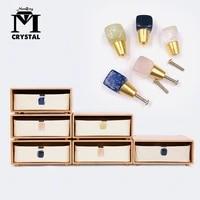natural crystal gemstone furniture handle quartz stone drawer handle wardrobe handle home furnishing decoration