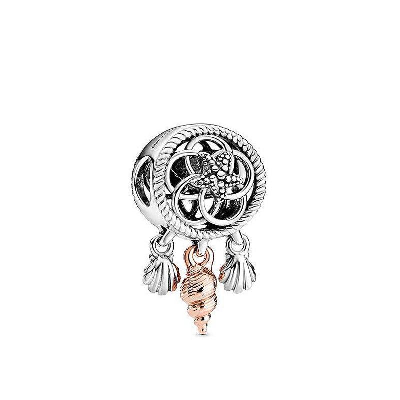 Amuletos compatibles con pulsera Pandora, abalorio de plata de Ley 925 Original brillante Piscis Zodiaco encanto 2020 joyería de cristal