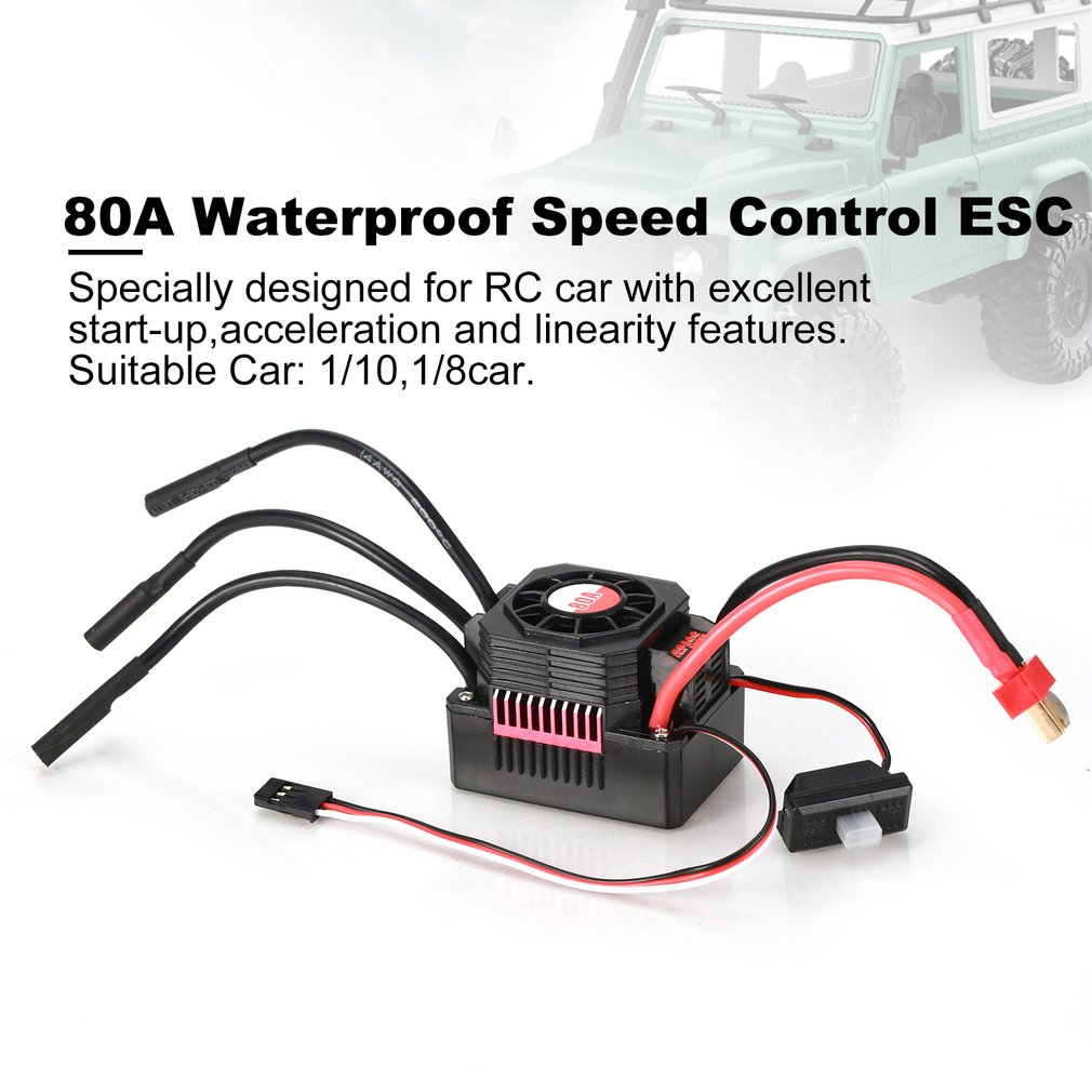 RC Ship & Boat Brushed Motor Speed Controller ESC 25A 35A 45A 60A 80A Brushed Motor Speed Controller ESC RC Car Boat Spare Part enlarge