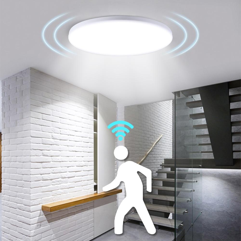 PIR Motion Sensor Modern 18W 12W Lamp For Kitchen Indoor Home Lighting Hallway Corridor Surface Mounted Led Ceiling Lights