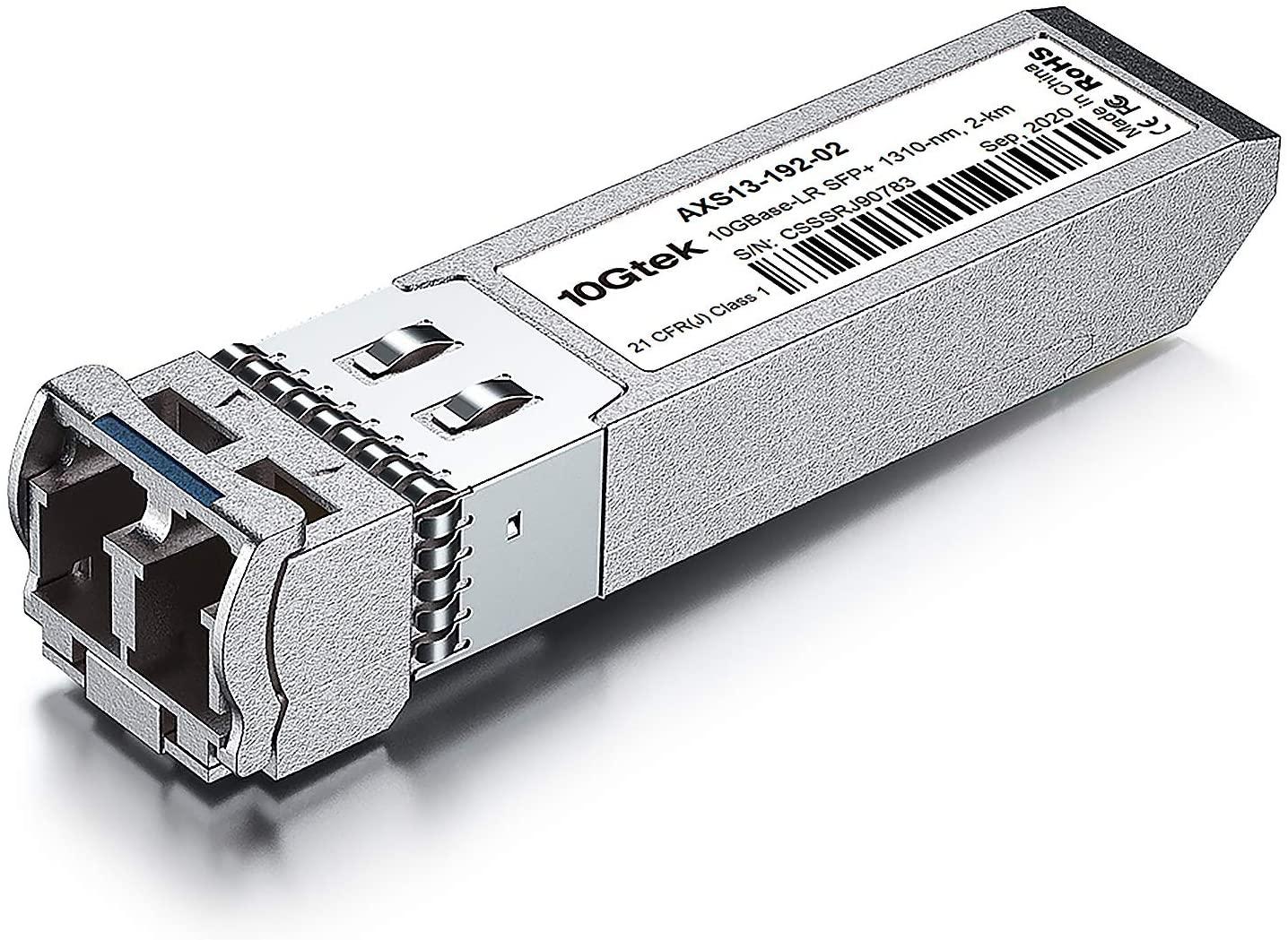 10GBase-LR Lite SFP+ IR Transceiver, 10G 1310nm SMF, up to 2 km, Compatible with Cisco