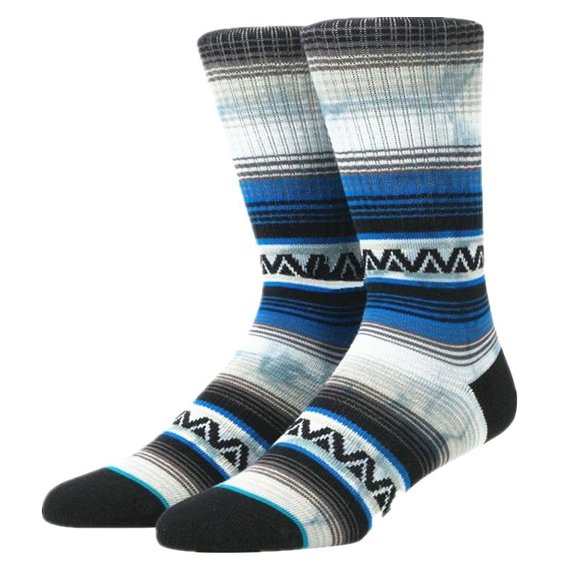 Men's Blue Bohemia Tie Dye Crew Socks USA Size M(6-9) ,Euro Size 39-42