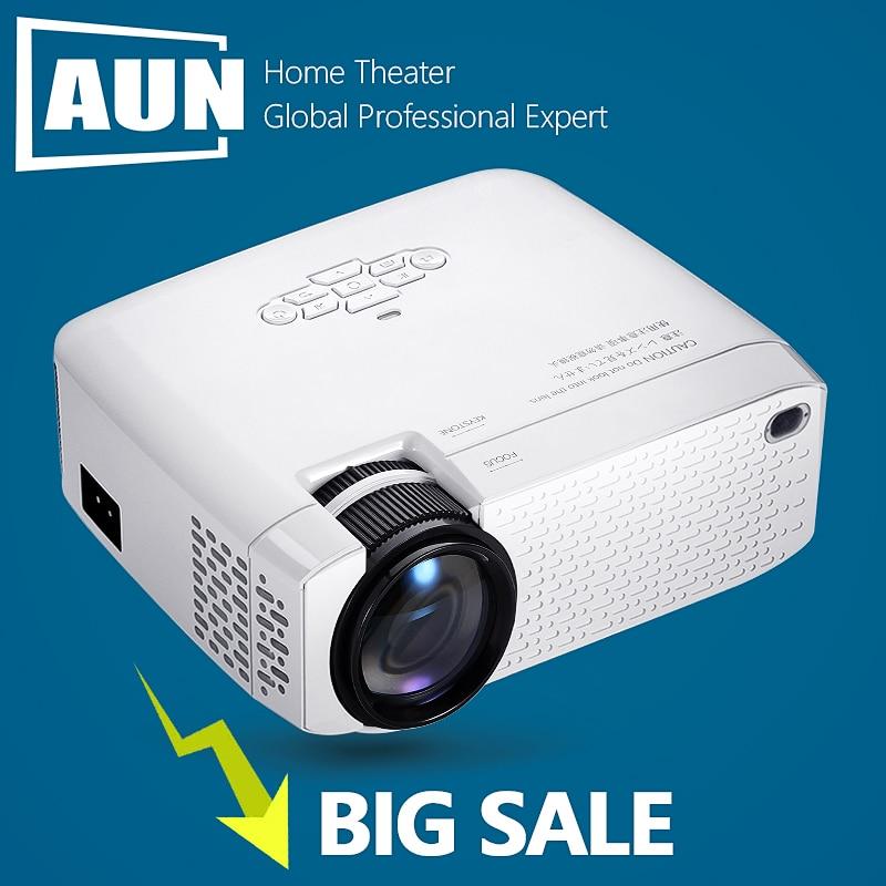 جهاز عرض مسرح منزلي محمول AUN جهاز عرض صغير D40, ثلاثي الأبعاد ، عالي الدقة 1920x1080P عارض فيديو ، متوافق مع HDMI VGA