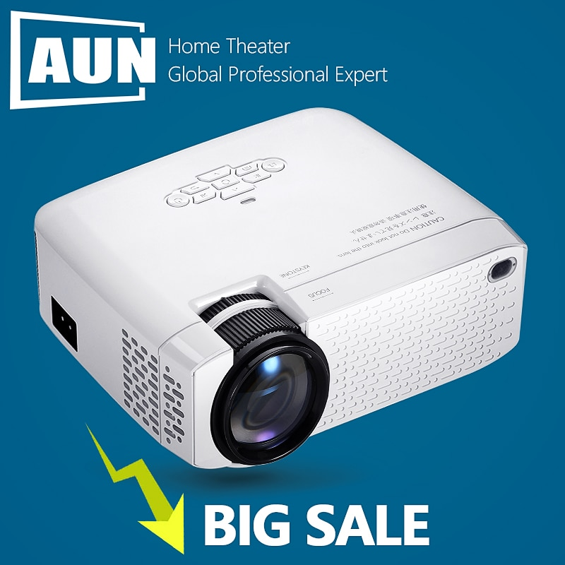 AUN MINI Projector D40 3D Home Theater Portable Beamer Full HD 1920x1080P Video projector Via HDMI V