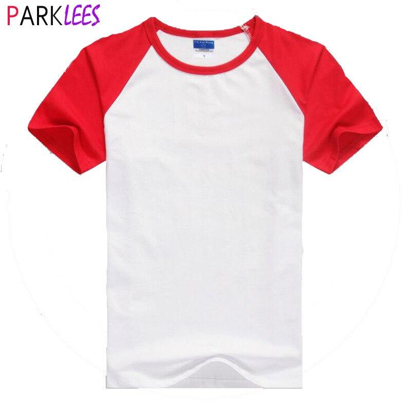 Футболка Мужская/женская из хлопка, брендовая тенниска с рукавом реглан, повседневный топ с коротким рукавом и круглым вырезом, красный цвет, на лето