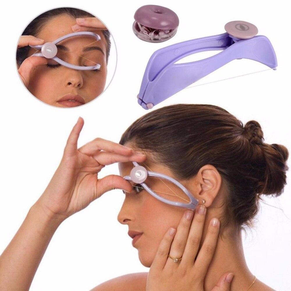 Women's Mini Size Facial Hair Removal Tool Spring Threading Epilator for Face Defeatherer DIY Beauty
