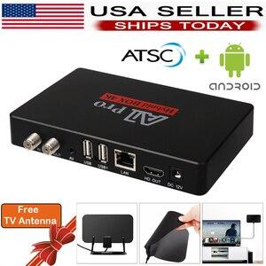 Смарт ТВ Android ATSC цифровой преобразователь коробка ATSC тюнер чистый QAM аналоговый цифровой ТВ рекордер UHF VHF над воздухом антенна для помещений