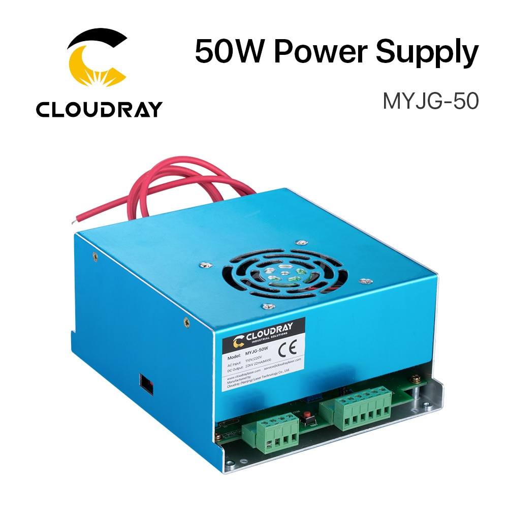 Cloudray 50W CO2 Laser Power Supply 3A Output  for 45-50W Laser tube CO2 Laser Engraving Cutting Machine MYJG-50