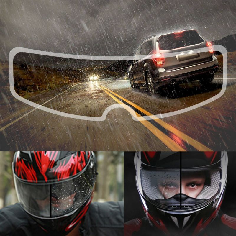 2021 New Universal Motorcycle Helmet Clear Rainproof Film Anti Rain Patch Screen for K3 K4 AX8 LS2 H