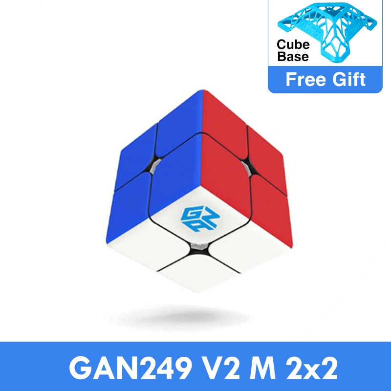 GAN249 V2 M 2x2x2 puzzle cube 2x2 Speed Magic Cube Puzzle V2 M Magnetic Professional cubo magico Twi