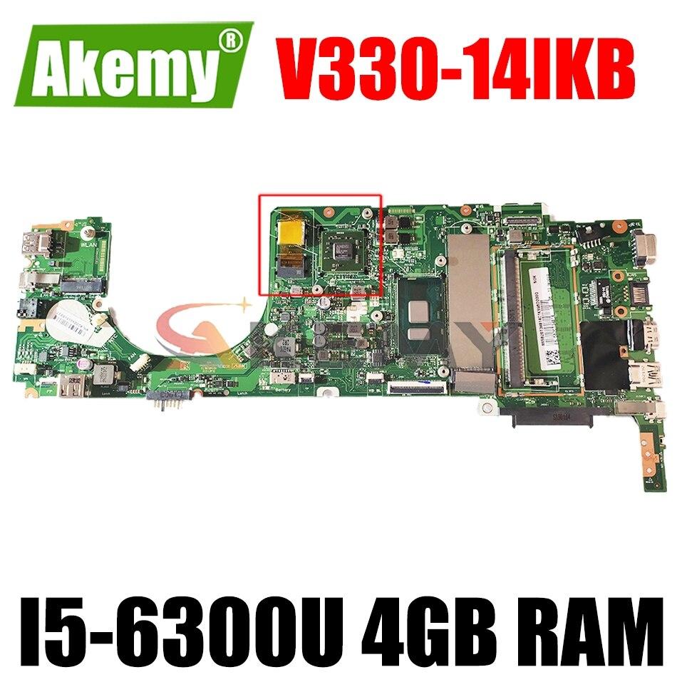 5B20Q59806 اللوحة الرئيسية لينوفو V330-14IKB 14 بوصة اللوحة الأم 100% اختبار العمل مع 4 جيجابايت رام + وحدة المعالجة المركزية I5-6300U + 2 جيجابايت وحدة معالجة ...