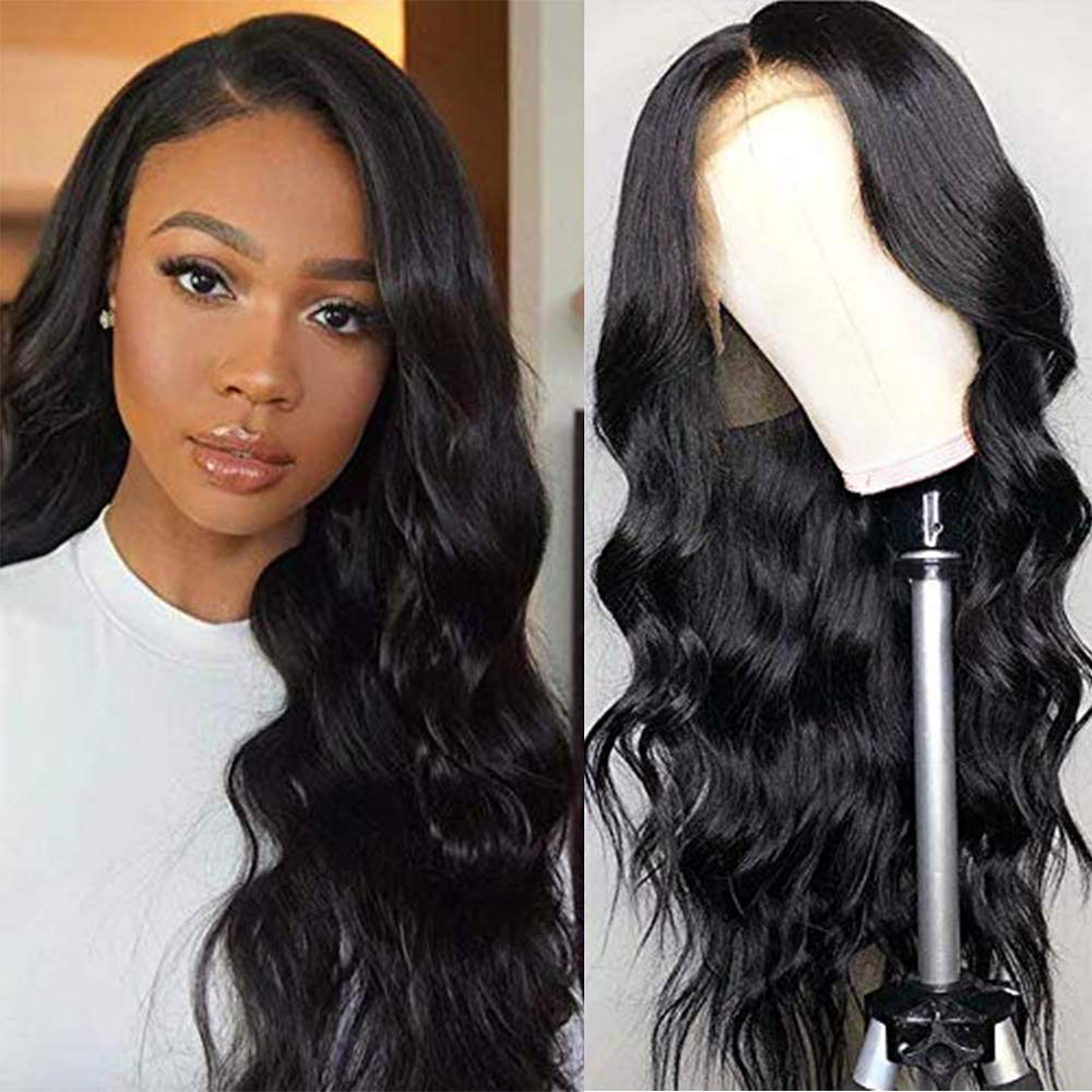 Brazilian Body Wave Lace Part Human Hair Wig Pre Plucked With Baby Hair Glueless 13*1 Lace Wigs For