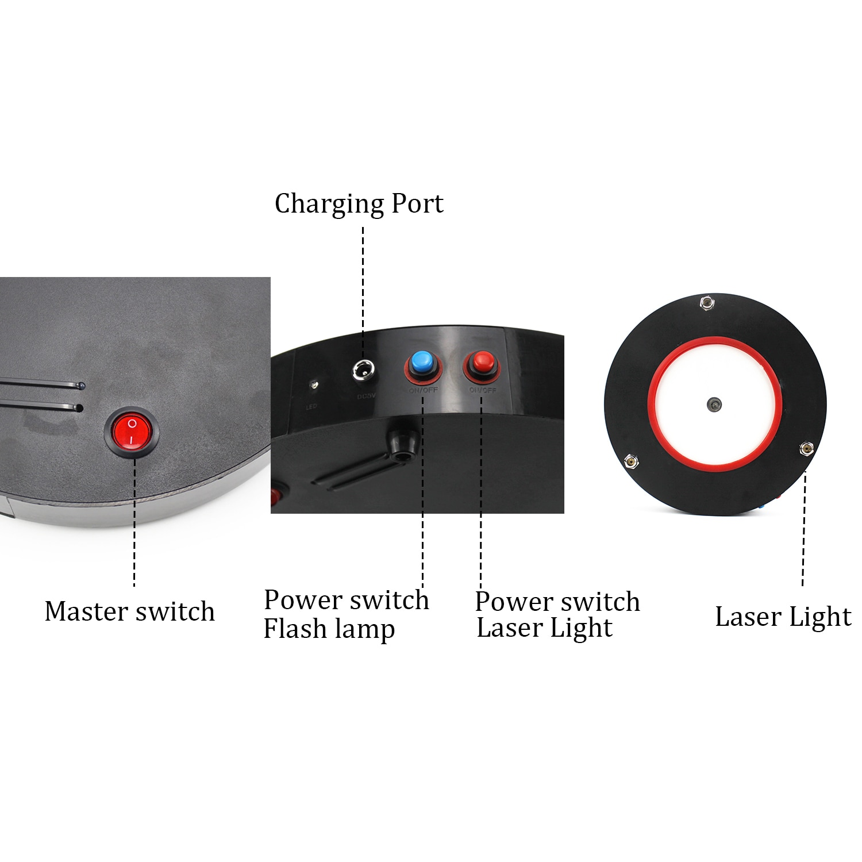 10 Inch Hookah Shisha LED Laser Light Plastic Shisha Narguile Chicha Cachimba Smoking Water Pipe Laser Light Hookah Accessories enlarge