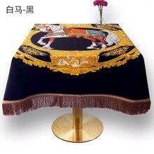 Nappe carrée de luxe décorative   Nouveaux arrivages 2019x150 cm nappe de table pour dîner à la maison, couvertures de Table à thé, propagation de Table 150