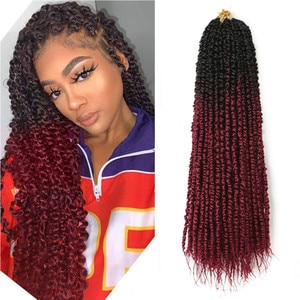 18inch Passion Twist Crochet Braid Hair Extensions Synthetic Omber Braiding Hair Bohemia Style For Black Women Hair Expo City