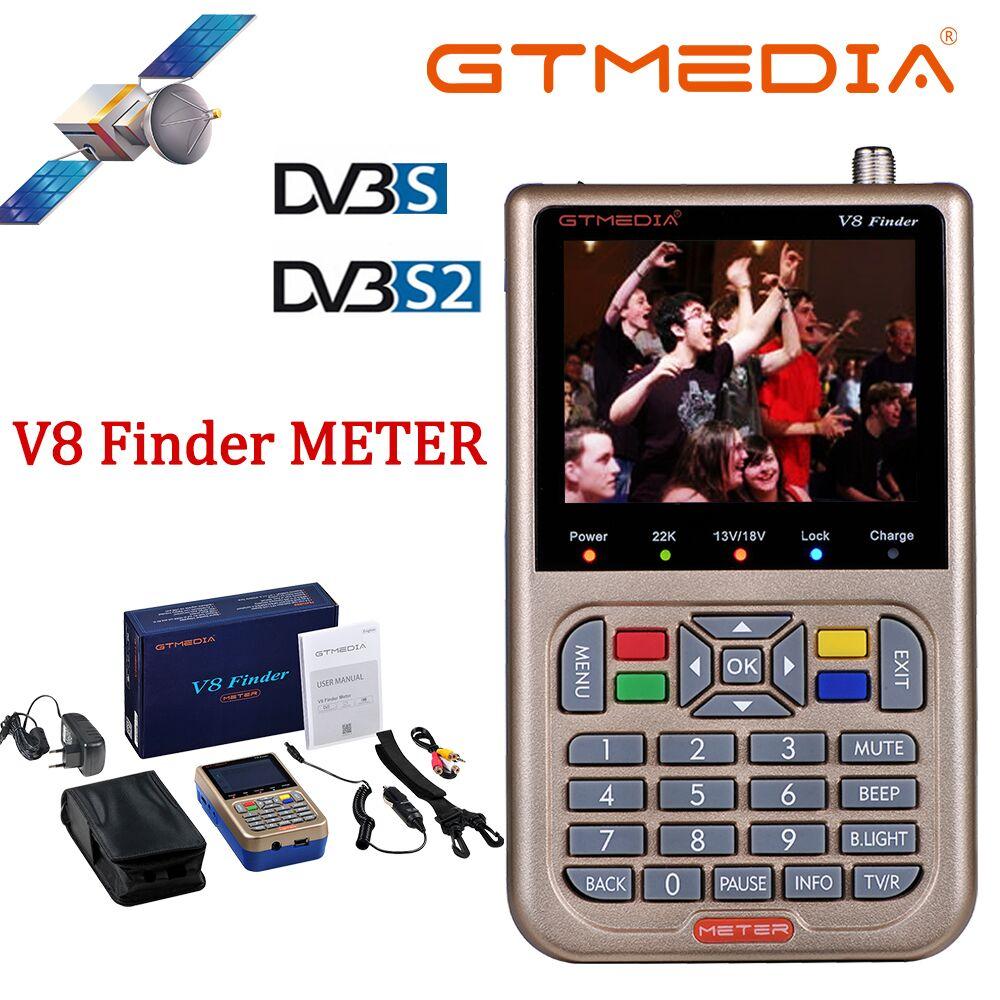 Medios GT/Freesat V8 1080P medidor de buscador DVB-S2/S2X buscador Digital por satélite de alta definición buscador satelital Metro Satfinder