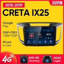 JIUYIN Car Radio Multimedia Video Player Navigation GPS For Hyundai Creta IX25 2015 - 2019 Android N