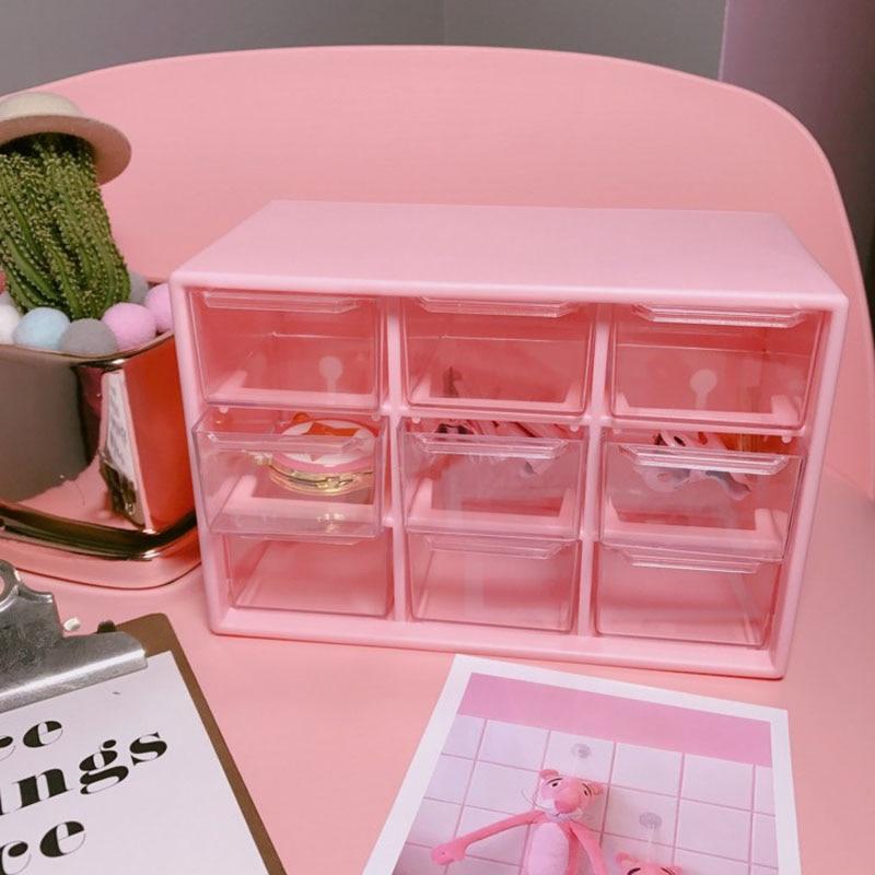 1 шт., розовый чехол для хранения 9 решеток, держатель для коробки, контейнер, 3-слойный держатель, держатель для банкнот, органайзер, держатель для студентов, Товары для офиса