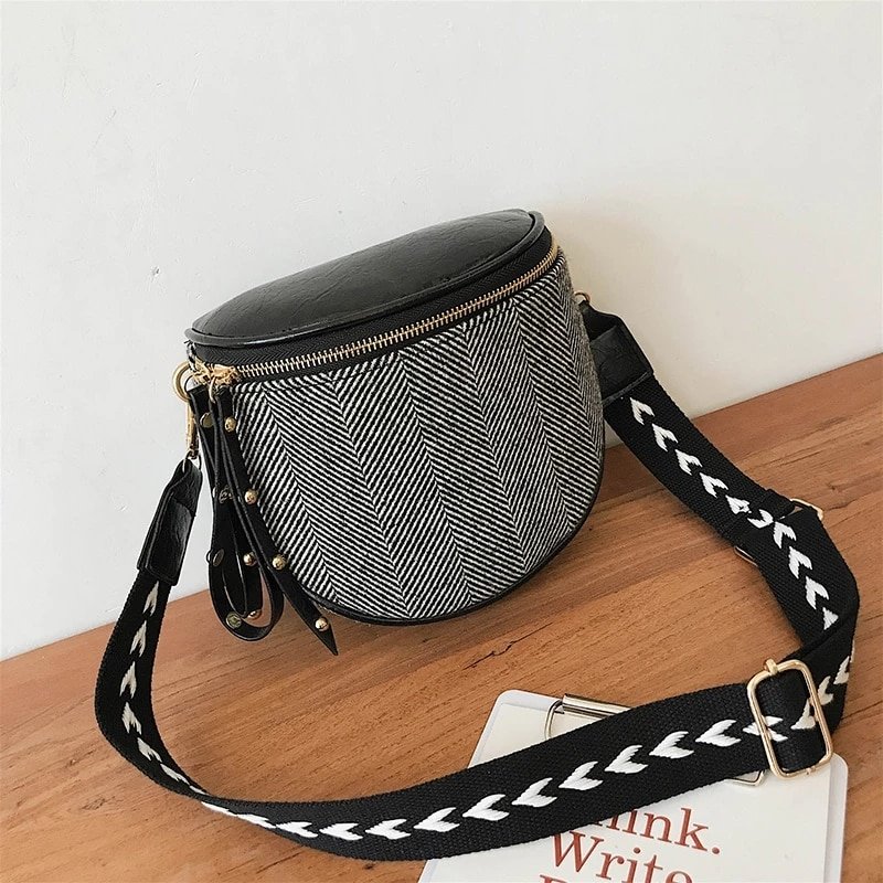 Fashion Women Shoulder Bags Cotton Luxury Casual Small Crossbody Bags For Women 2021 Winter New Designer Messenger Bag Ladies