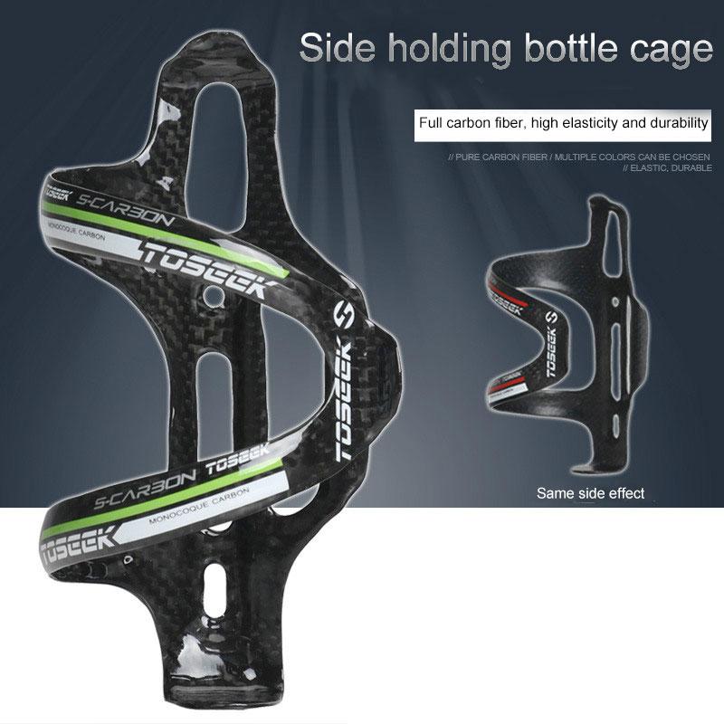 Soporte ligero de fibra de carbono de la jaula de la botella de agua del lado caliente para la bicicleta ciclismo mvi-ing