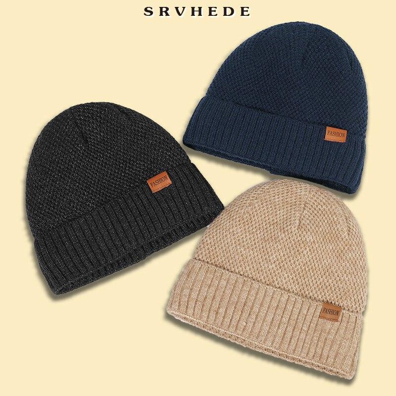 Зимняя и осенняя вязаная шапка 2021 с бархатной подкладкой, шапочки, облегающие шапки, простая модная универсальная шапка, женская шапка, мужс...