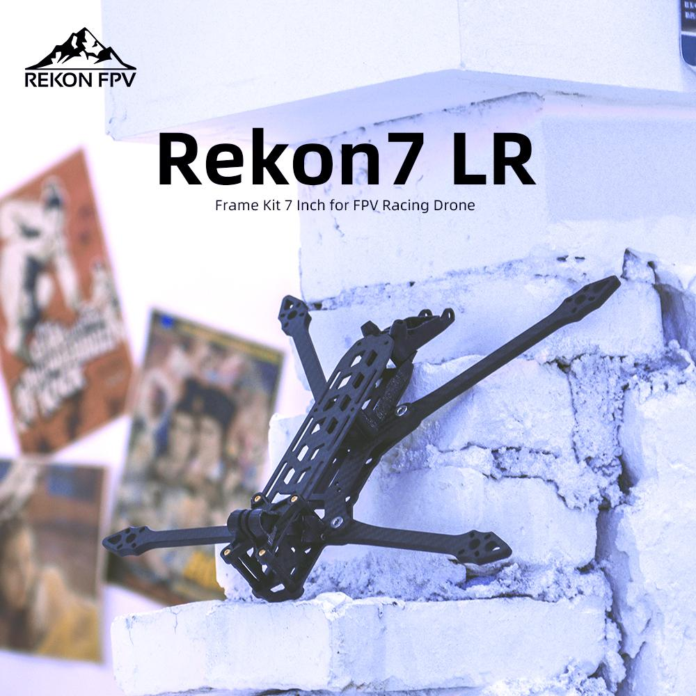 HGLRC Rekon 7 LR 324mm 3K Carbon Fiber 7inch Frame Kits 6mm Arm for RC FPV Racing Freestyle 7inch Long Range Drones DIY Parts enlarge