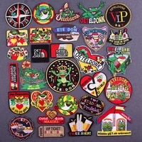 45 style oeteldonk emblem patches for clothing ironing applications diy frog carnival for netherland embroidery iron on patches