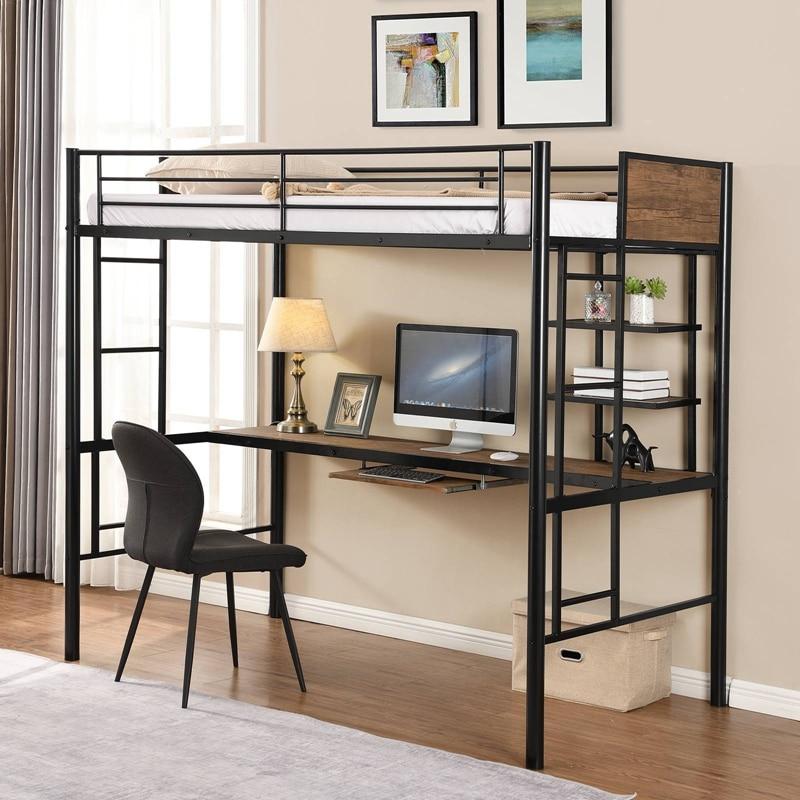سرير علوي عالي الجودة مع مكتب ورف توفير مساحة تصميم أطقم أثاث غرف النوم