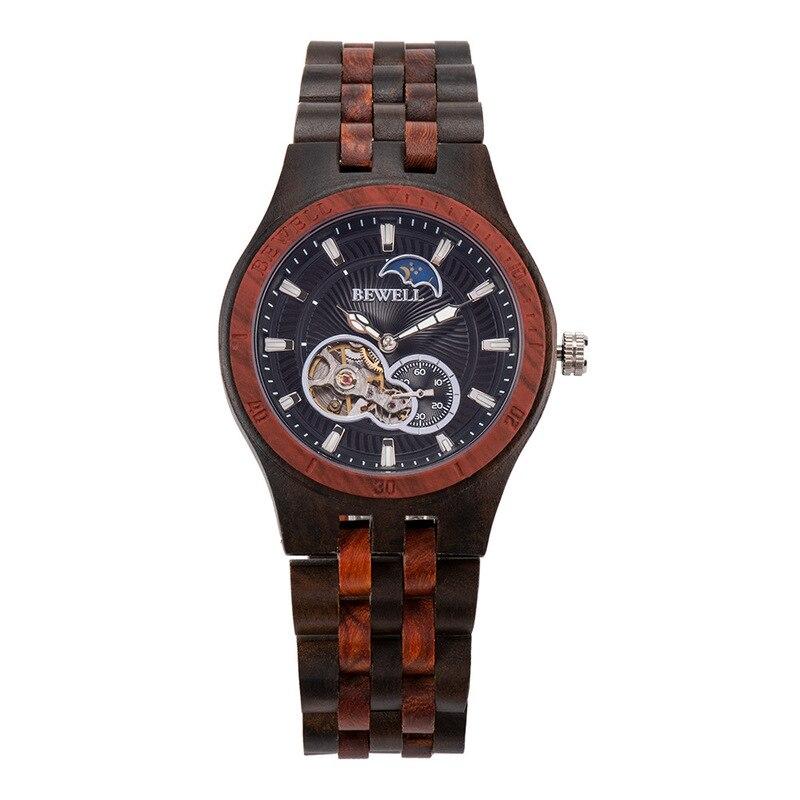 ¡Promoción limitada 2020! Reloj mecánico automático Bewell de moda Popular para hombre, resistente al agua con correa de madera