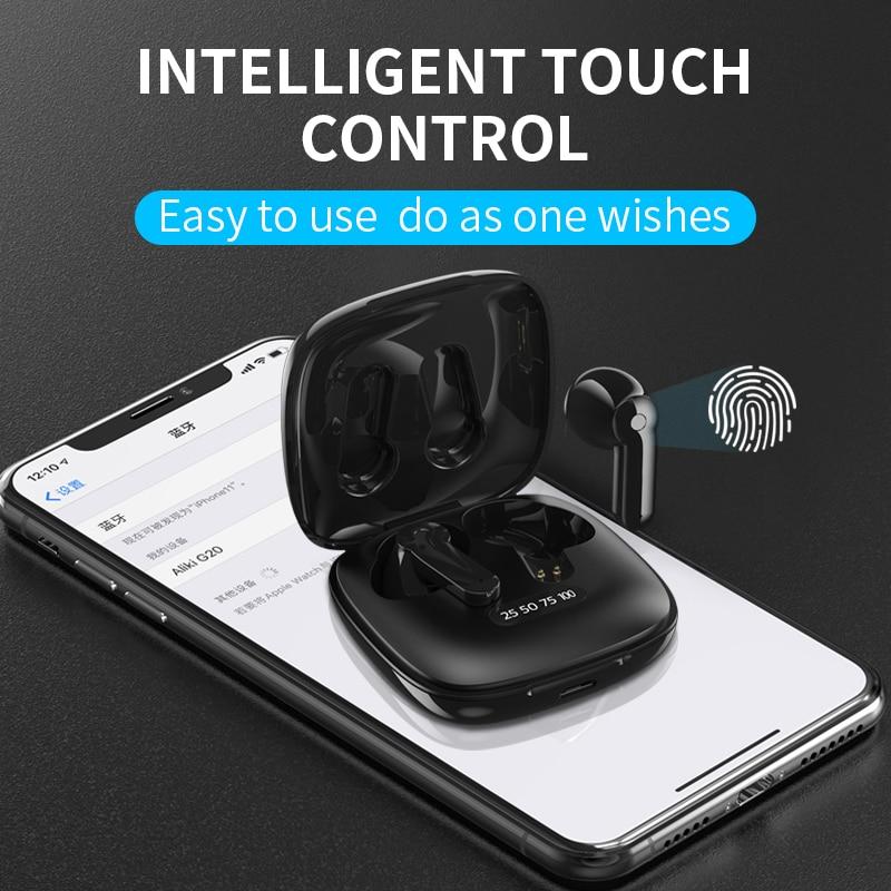 Wireless Earphones X31 Bluetooth 5.0 Headphones Touch Control with Charging Case IPX5 Waterproof Spo