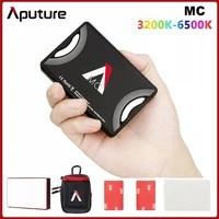 Aputure AL-MC MC RGBWW Lighting Video Mini LED Light 3200K-6500K RGB HSI CCT FX Light Selfie for Sony DSLR Camera Canon