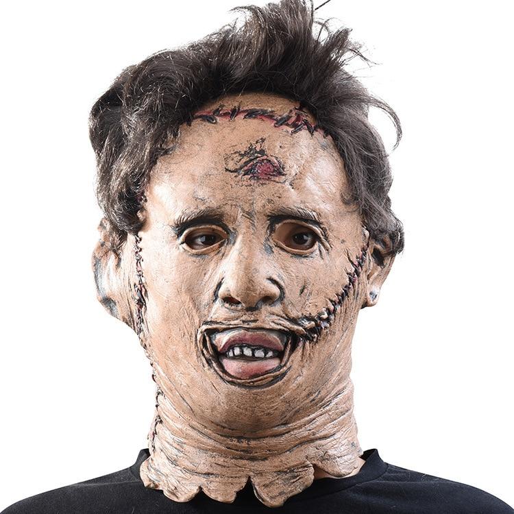 Película de miedo nuevo Texas motosierra masacre Leatherface máscaras película de miedo Cosplay disfraces de Halloween Props juguetes de alta calidad