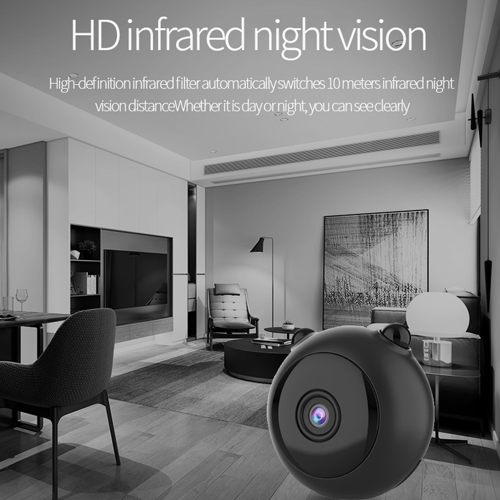 Mini WiFi IP Camera HD 4k Motion Detection IR Night Vision Camcorder Wireless Wifi Panda-shaped Home Monitor Camera enlarge